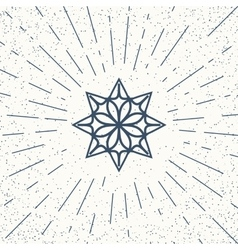 Asian mandala symbol vector