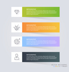 Infographic templates for business can be used vector