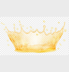 Water crown splash of water or oil transparency vector