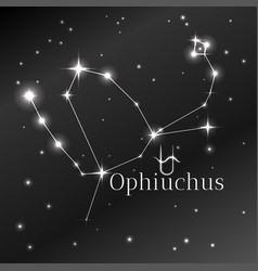 Secret symbol of ophiuchus zodiac sign horoscope vector