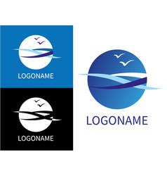 Design modern sea logos vector