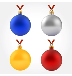 Collection of balls on ribbon vector