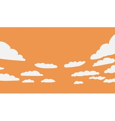 Background with clouds vector