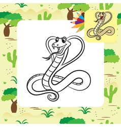 Cobra coloring page vector