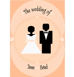 Wedding couple invitation vector