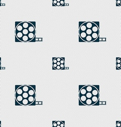 Video sign icon frame symbol Seamless abstract vector image