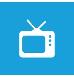 Tv icon white vector