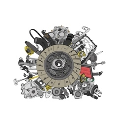Many images of spare parts vector