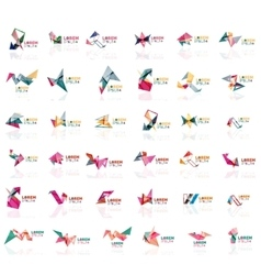 Grow up arrow origami abstract logo design vector