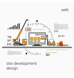 Infographics development site vector