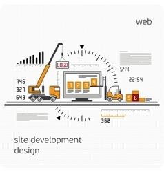 Infographics development site vector image