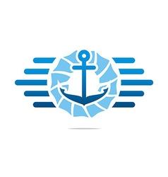 Achor ship summer design logo vector