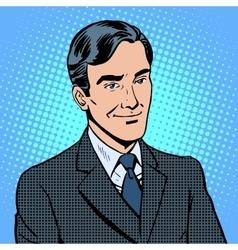 Businessman listens vector image