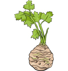 Celery vegetable cartoon vector