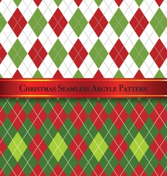 Christmas Seamless Argyle Pattern Design Set 1 vector image