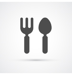 Cutlery fork and spoon trendy icon vector image vector image