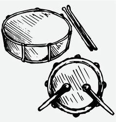 Drum set vector