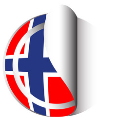 Flag icon design for norway vector
