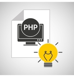 idea code web program php vector image