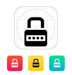 Lock with password icon vector