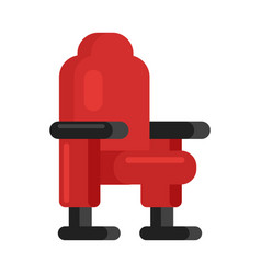 movie comfortable seat vector image