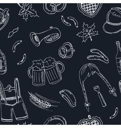 October fest doodle seamless pattern Vintage vector image vector image