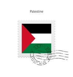 Palestine flag postage stamp vector