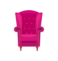 purple armchair isolated icon vector image vector image