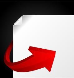 red graph arrow vector image