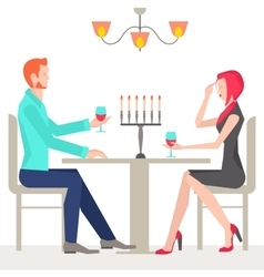 Romantic date couples in love vector image vector image