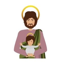 Saint joseph and baby jesus vector