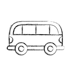 Sketch draw car cartoon vector