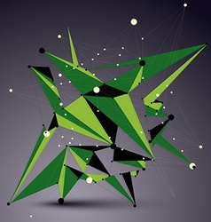 Spatial green digital apex object 3d technology vector