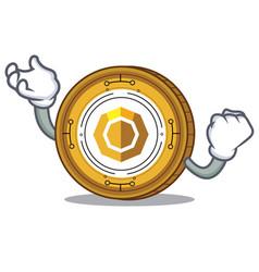 Successful komodo coin character cartoon vector