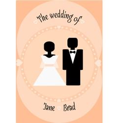 wedding couple invitation vector image vector image