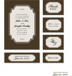 Wedding set vector