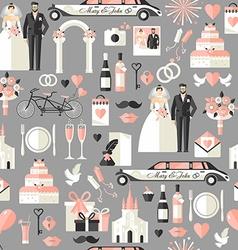 Wedding symbols set vector