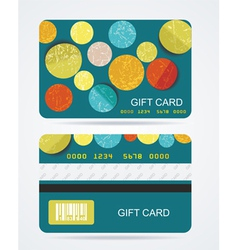 Collection of gift cards with circles background vector