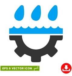 Water Gear Drops Eps Icon vector image