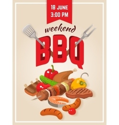 Barbecue weekend poster vector