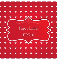 Paper label vector