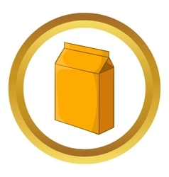 Cardboard packaging icon vector