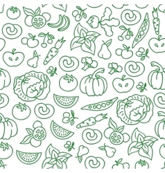 Vegetables diet food background raw vector image
