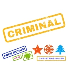 Criminal rubber stamp vector