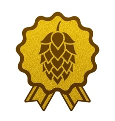 Hop gold brewery beer icon flat web sign symbol vector