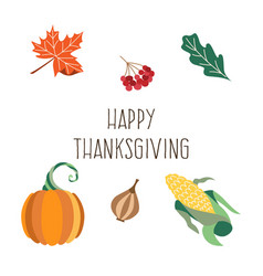 Thanksgiving set isolated background vector