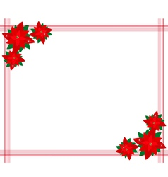 Poinsettia flowers forming a christmas border vector