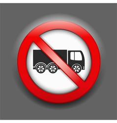 No trucks sign vector