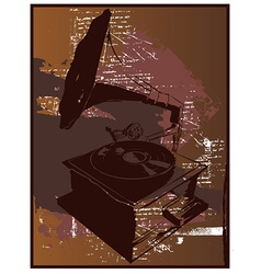 Record player vintage vector
