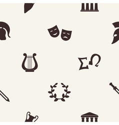 Seamless background with greece symbols vector